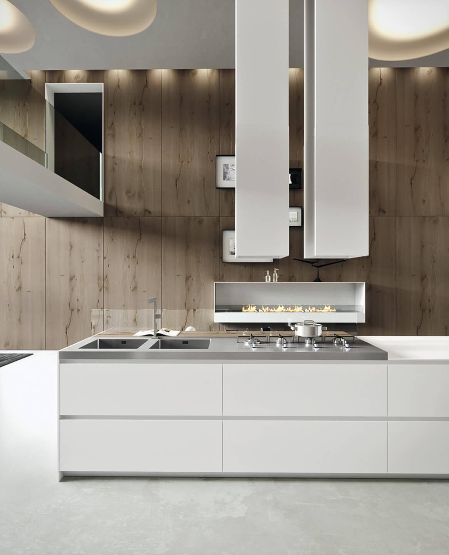 CUCINA IN FENIX NTM E ROVERE ANTICO - Mobili, arredamento: cucine ...