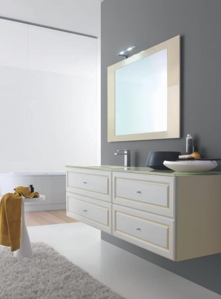 bagno classico con anta laccata - Arredo Bagno Classico Sospeso