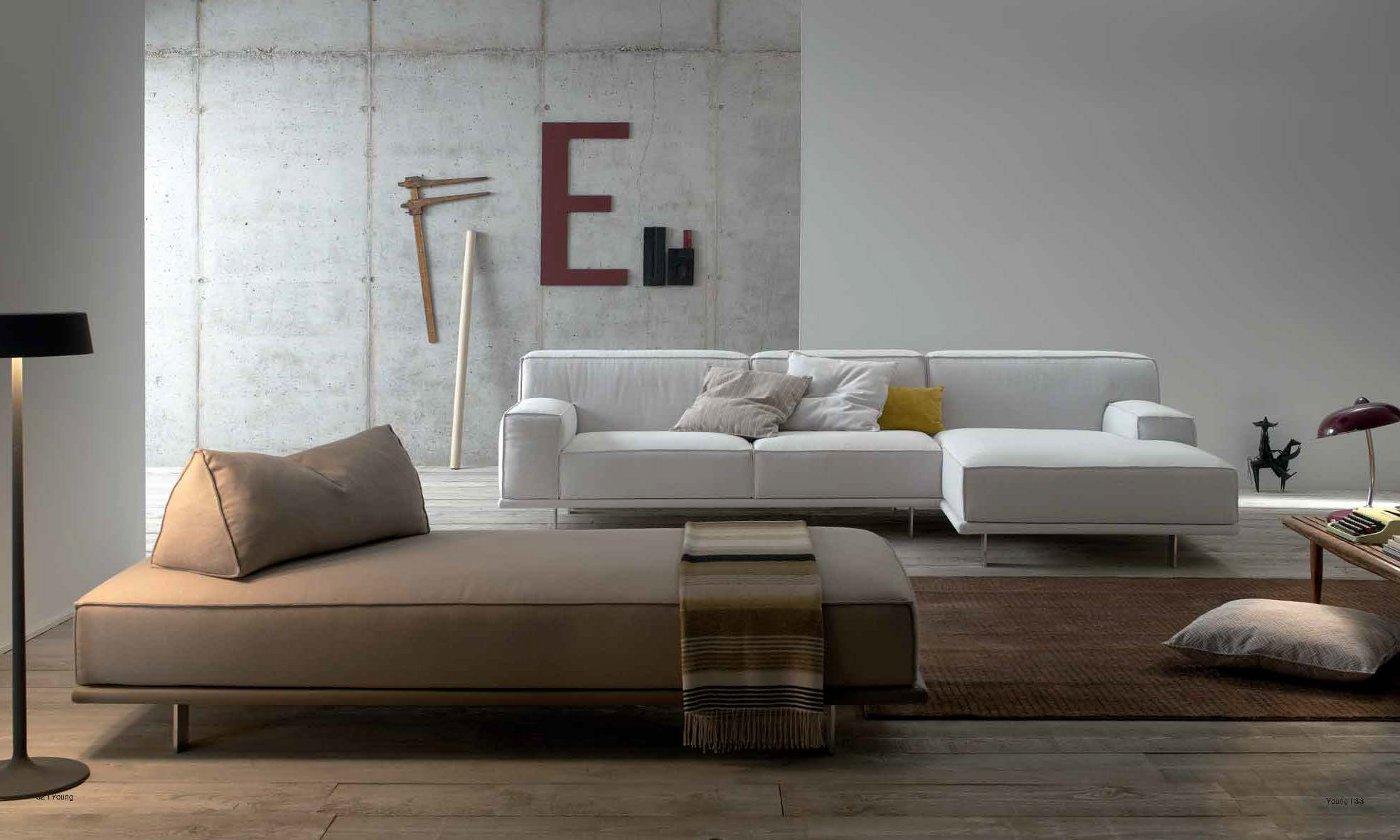 divano due posti con penisola staccabile arredamento moderno