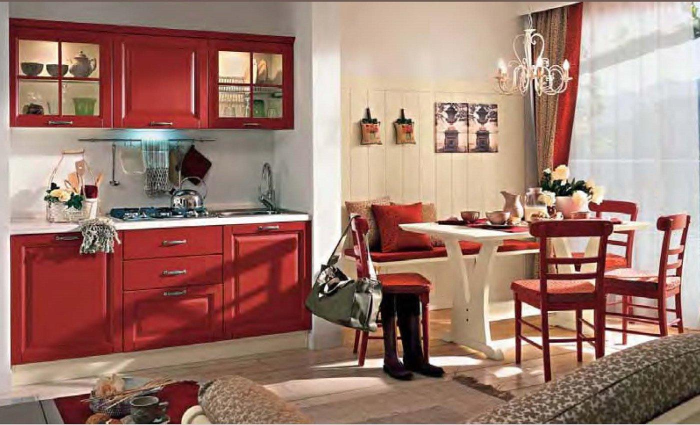 Angolo Cottura Giro Panca Credenzino Divano. Mobili Arredamento  #9D322E 1400 850 P Revolution Veneta Cucine