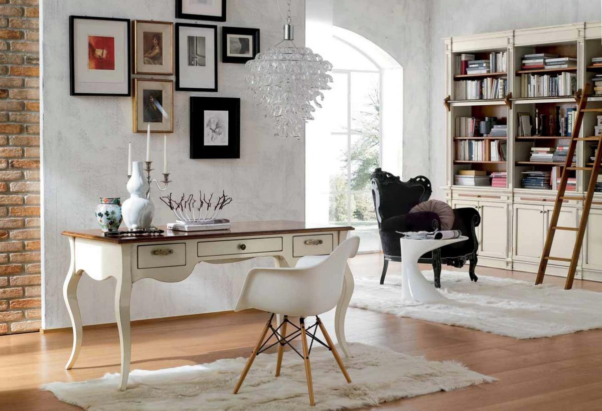Soggiorno studio in stile liberty arredamento classico for Arredamento stile classico