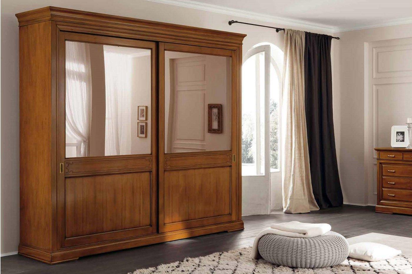 Armadio scorrevole classico mobili arredamento cucine for Armadi camere da letto prezzi