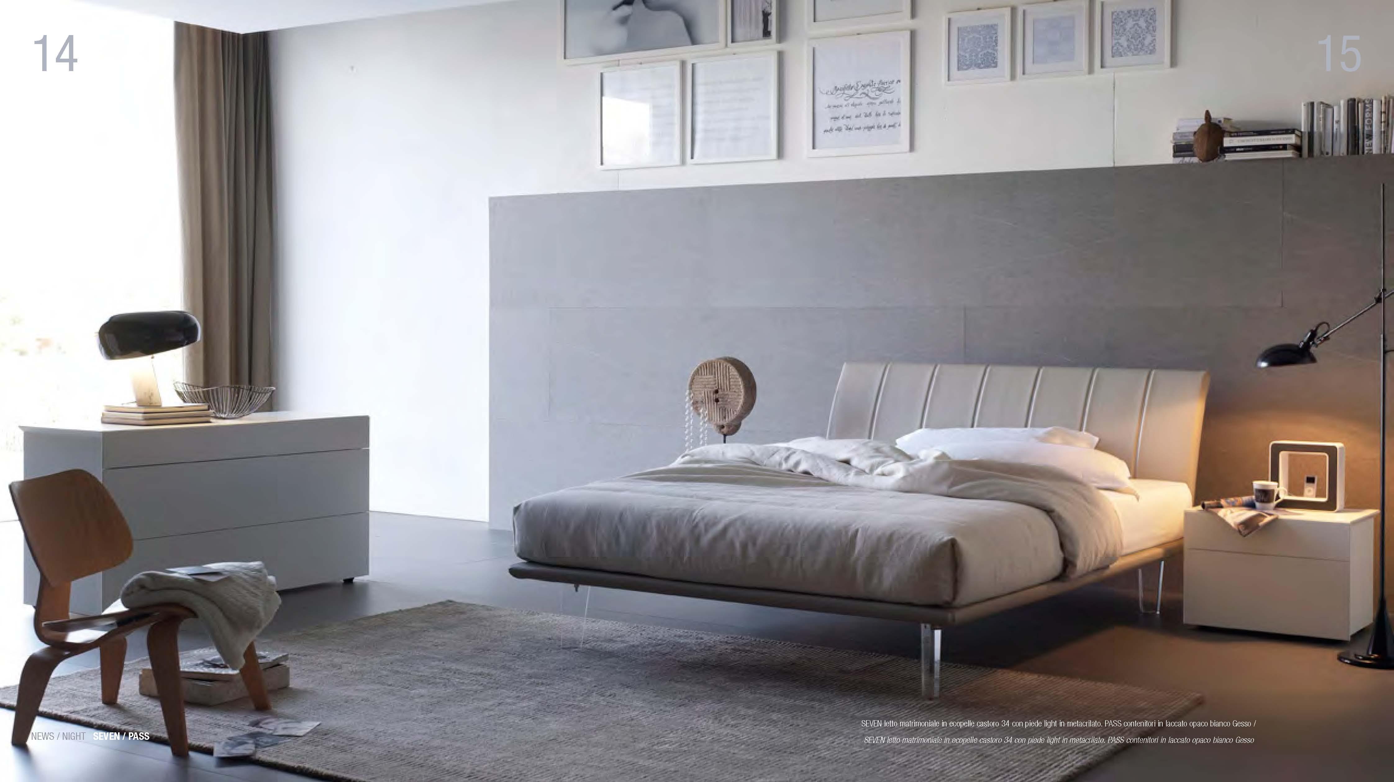 Gruppo letto con testata imbottita mobili arredamento cucine salotti camere da letto tregima - Testata letto imbottita ...
