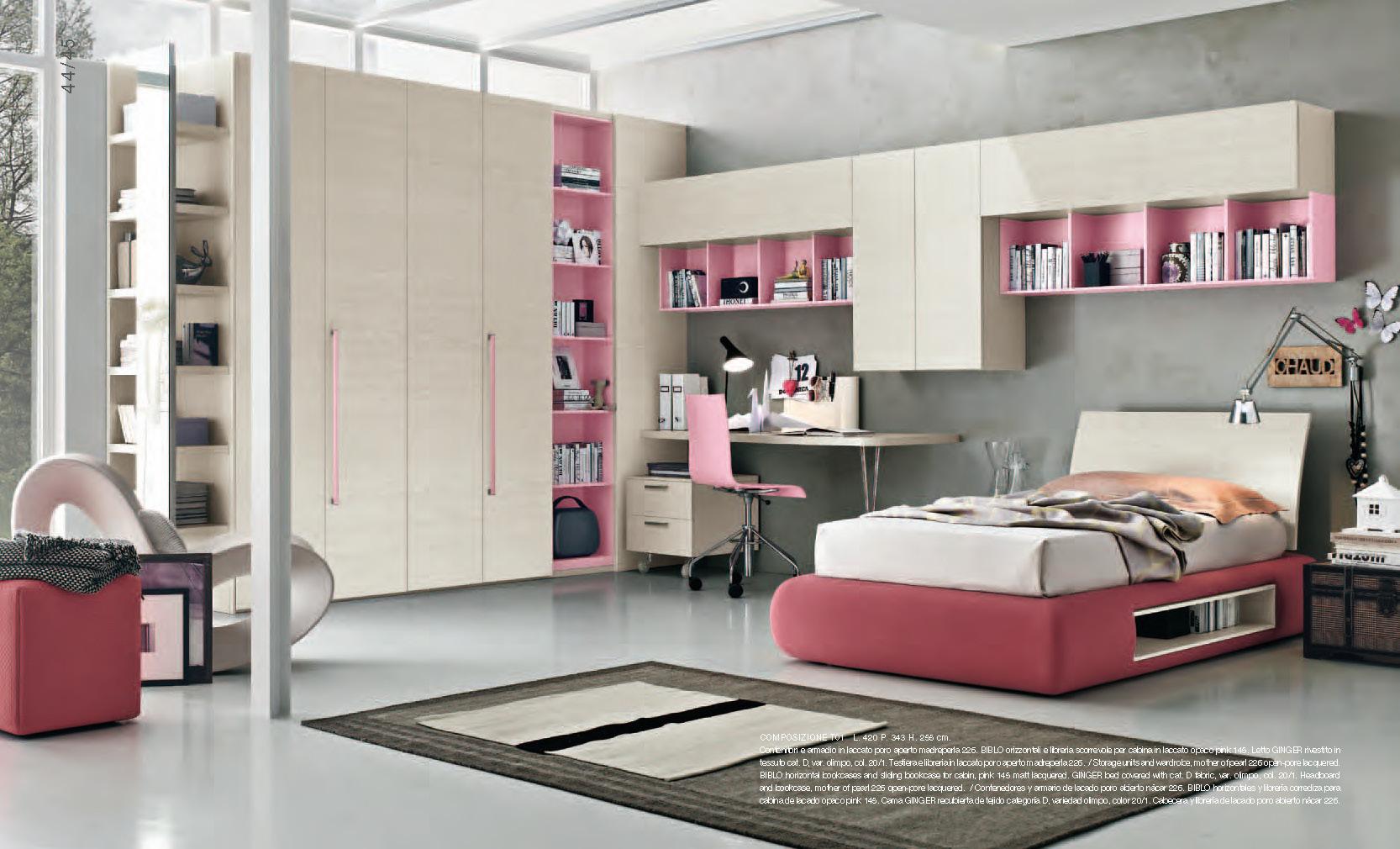 Cameretta bianca e rosa for Cameretta rosa