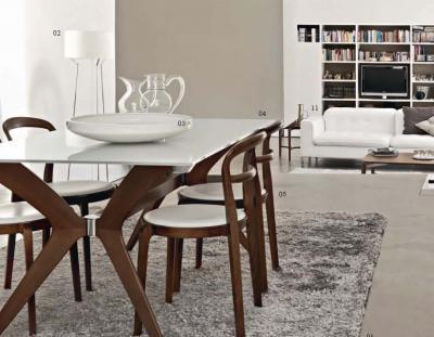 tavolo e sedie in legno arredamento moderno tregima
