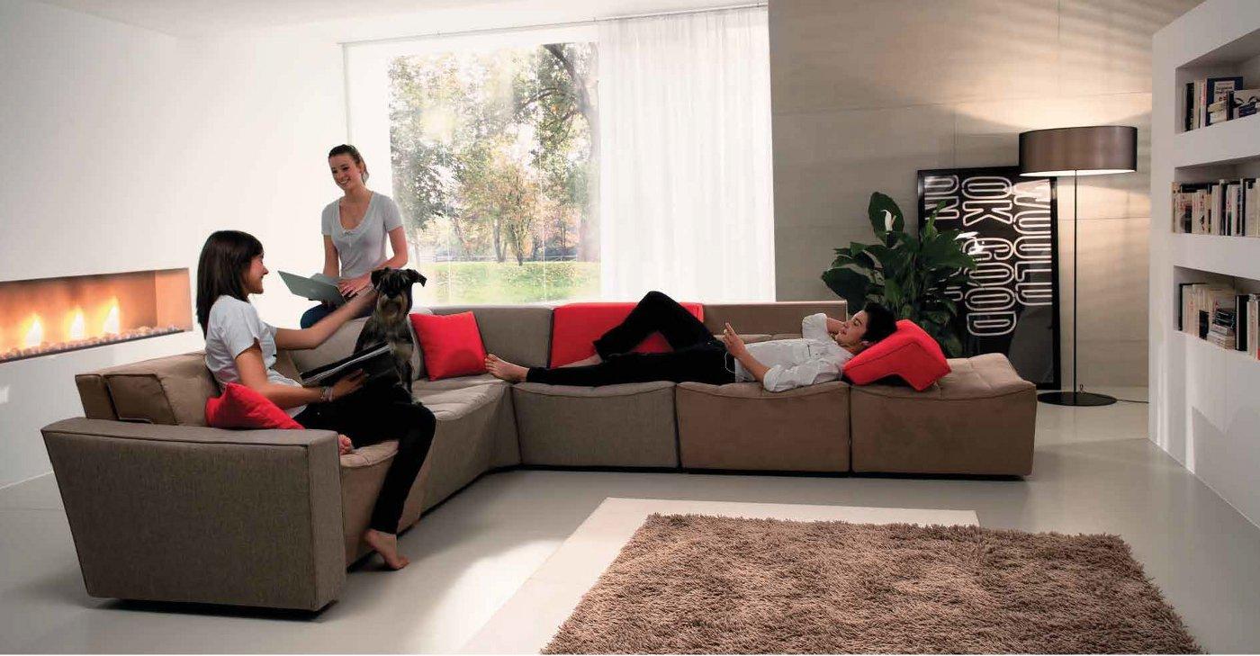 Divano Componibile Curvo : Divano componibile con sedute singole arredamento moderno