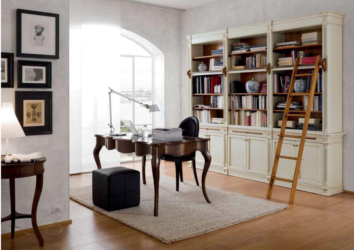 Soggiorno studio in stile liberty arredamento classico for Arredamento per studio