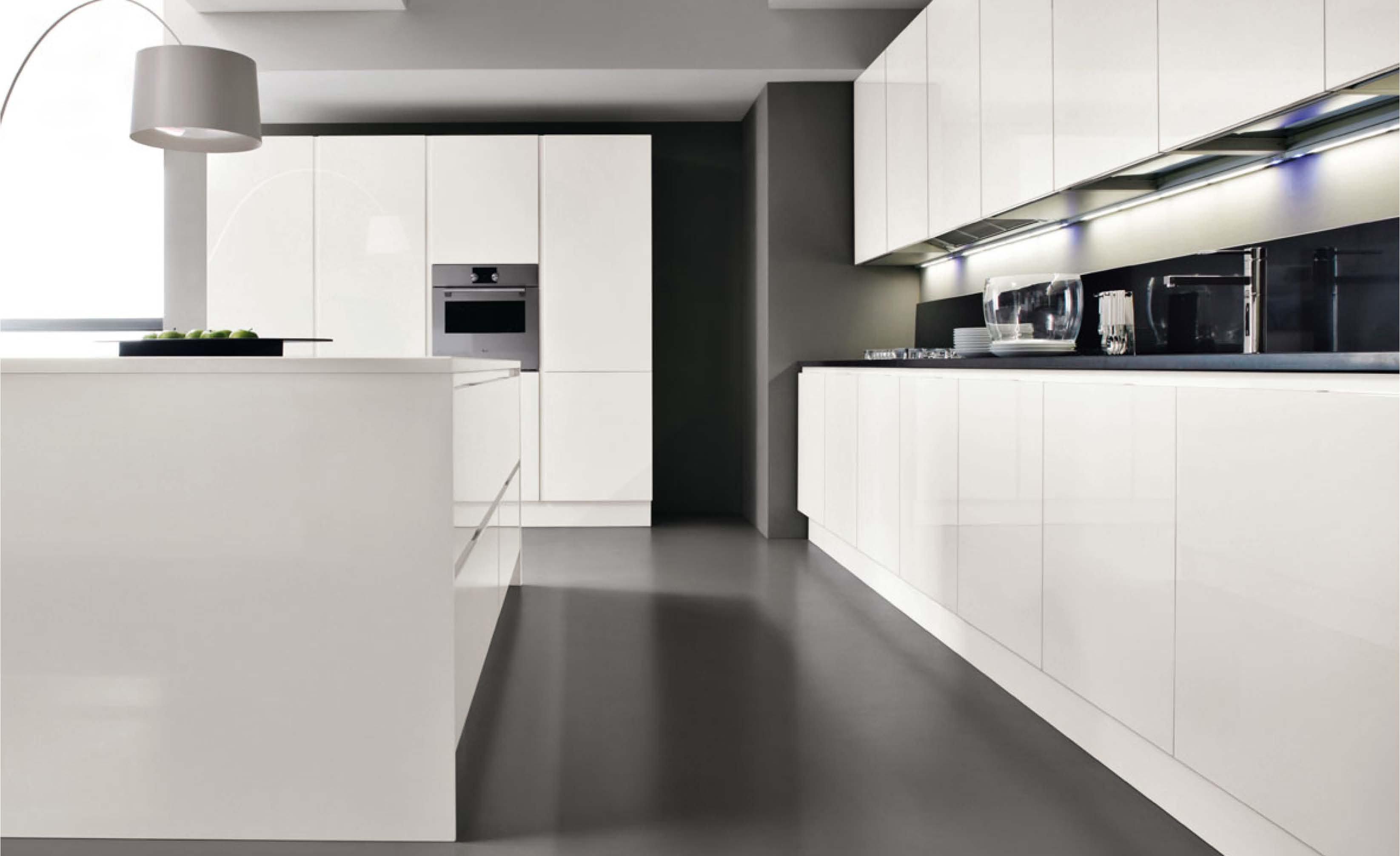 Cucina laccato bianco - Arredamento moderno