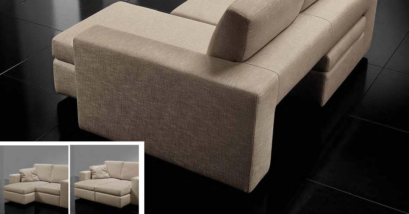 Divano con sedute estraibili e spazioze arredamento moderno - Divano con seduta allungabile ...
